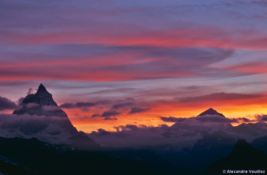 Valais suisse - A quel heure se couche le soleil ...